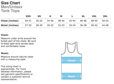 Men's Tank Top Sizing