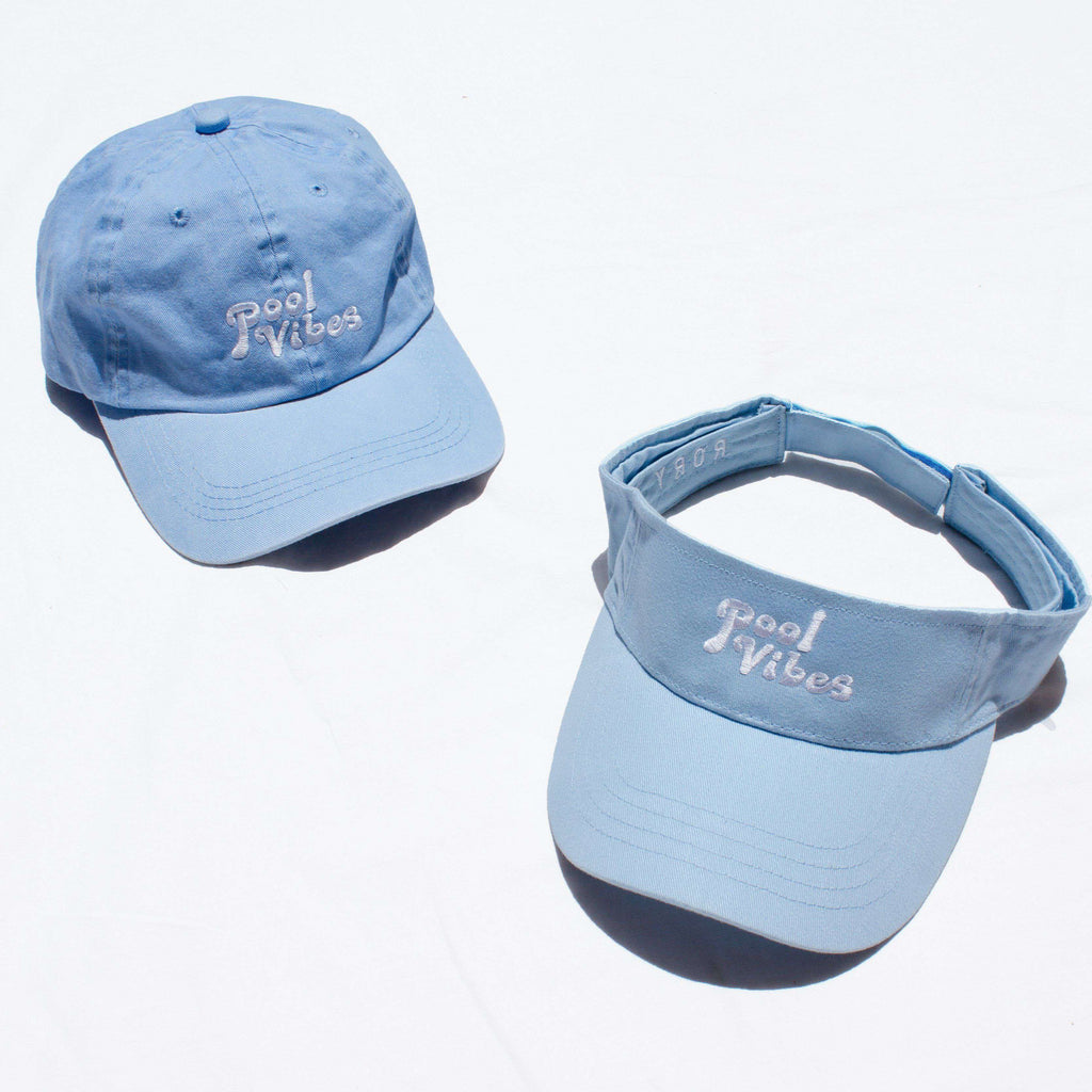 Pool Vibes Dad Hat - Pool Blue Vintage Wash - Rory Lux Apparel