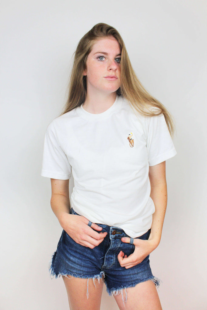 Water Polo Pony Embroidered Tee (imperfect) - Rory Lux Apparel