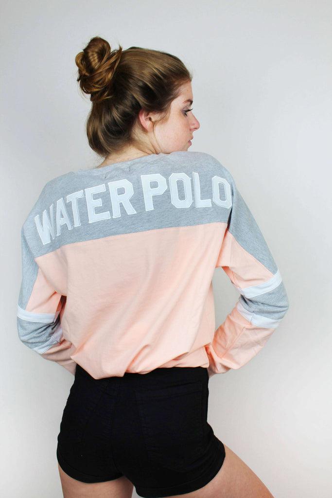 Water Polo Appliqué Lace Up Jersey - Pink - Rory Lux Apparel