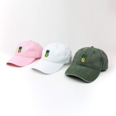 Pineapple Water Polo Dad Hat - Vintage Wash Olive - Rory Lux Apparel