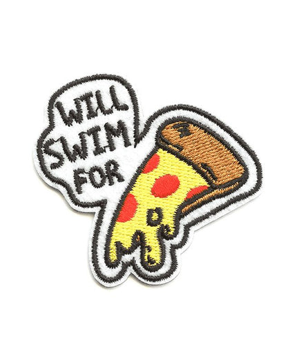 Will Swim for Pizza Swim Patch