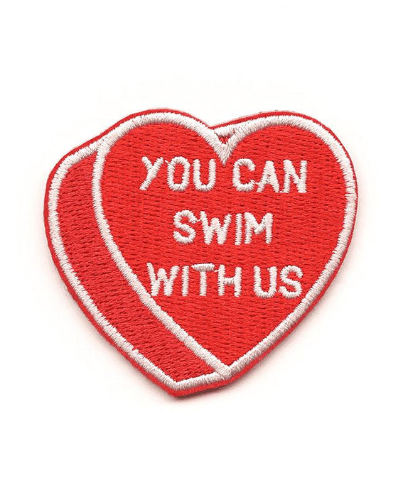 You Can Swim With Us Heart Patch