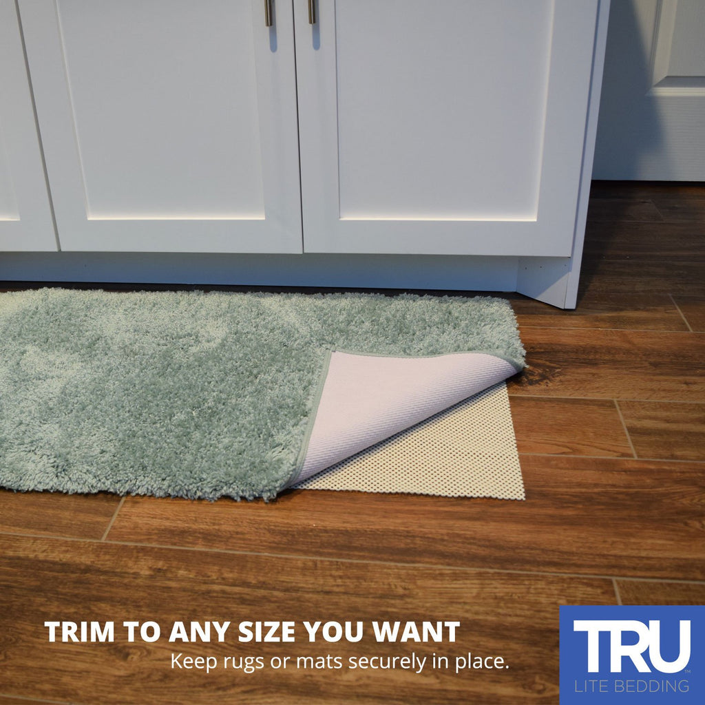 Non-Slip Mat for Area Rugs - EXTRA STRONG Grip Indoor Carpet Pad - Anti-Skid Washable Gripper Pad - Anchor Furniture and Rugs to Floors and Prevent Injury - Trim to fit any Size
