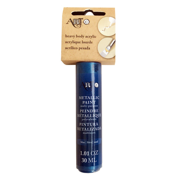 Metallic Paint - Heavy Body Acrylic - Blue - One 1oz tube