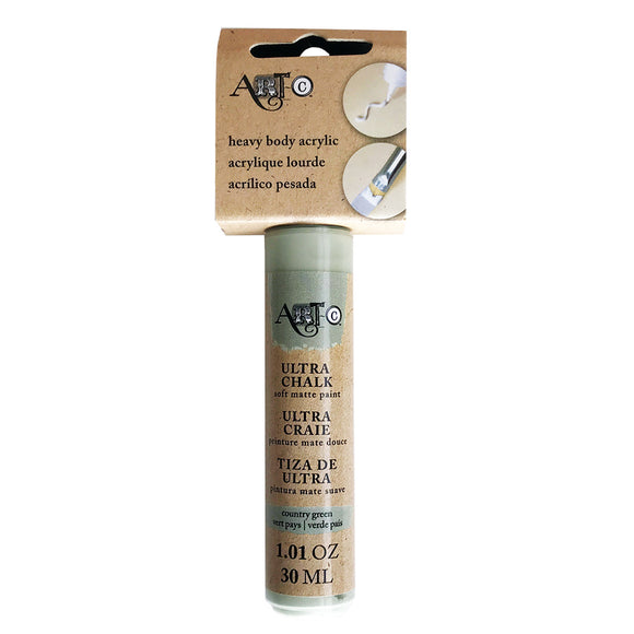 Ultra Chalk Paint - Heavy Body Acrylic - Country Green - One 1oz tube