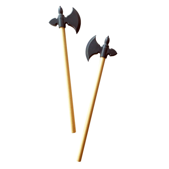 Medieval Axe Pencils with Blade Erasers - Set of 2