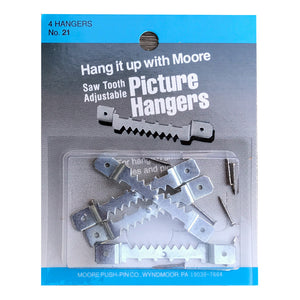 Sawtooth Adjustable Metal Hangers - 1-Inch or 1.5-Inch