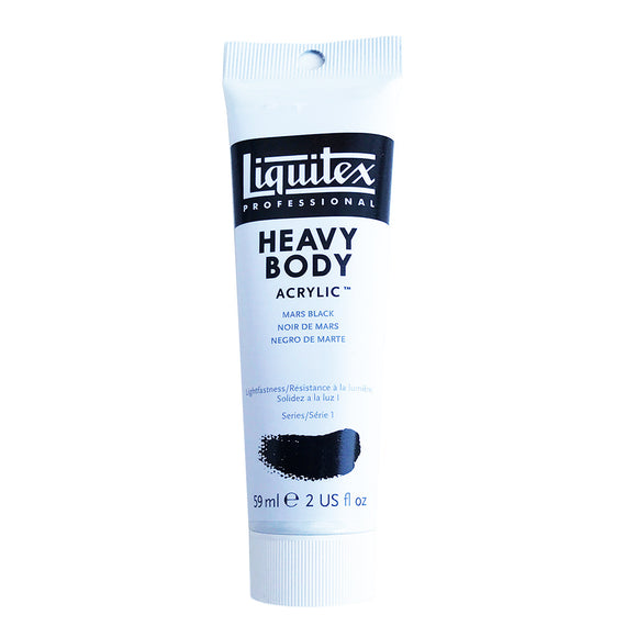 Liquitex Acrylic Paint, Heavy Body, Mars Black, 2 oz Tube