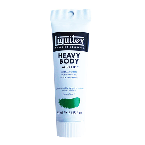 Liquitex Acrylic Paint, Heavy Body, Emerald Green, 2 oz Tube