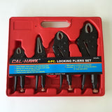 4-Piece Flat Black Locking Pliers Set