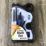 8-Piece Math Set with Carrying Case