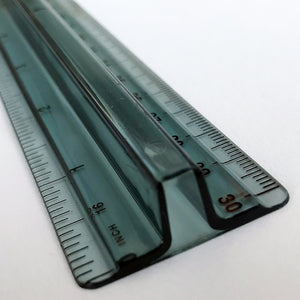 Smoky Transparent 12-Inch Pick-Up Ruler