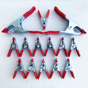 Industrial Spring Clamps - Set of 14
