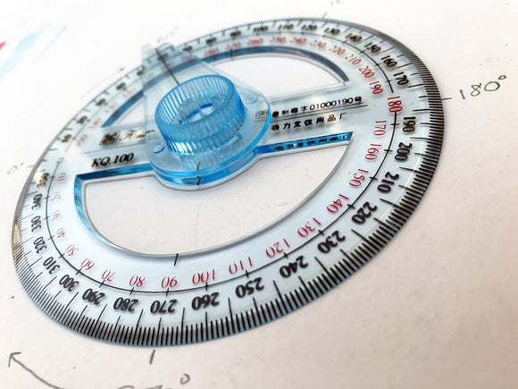 Circular Transparent Protractor with Swing Arm