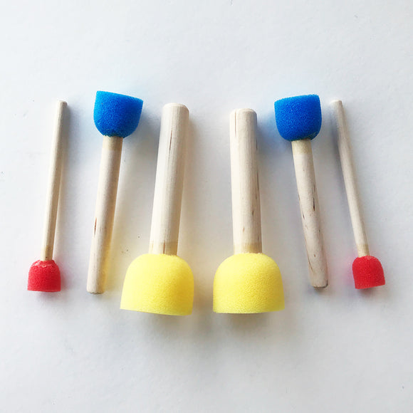 Sponge Dabbers with Sticks 6-Pack