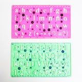 2-piece Alphabet Stencil Ruler Set
