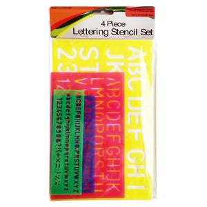 4-piece Number & Letter Stencils Set
