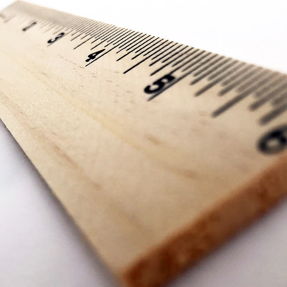 The Classic Wood Ruler - 6 or 12-Inch