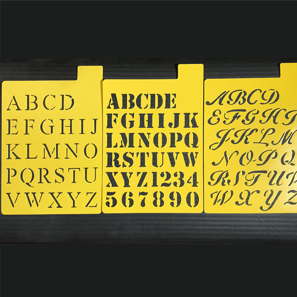 Yellow Stencil Pack - 3 Fonts