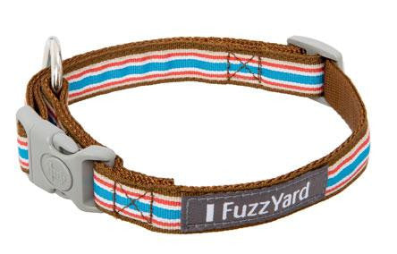 Glam Rock 'Fletch' Multi-Stripe Nylon Dog Collar - Smitten Pets