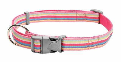 Glam Rock Pink 'Cotton Candy' Nylon Dog Collar - Smitten Pets