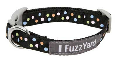 Glam Rock 'Cosmic' Polka-Dot Nylon Dog Collar - Smitten Pets
