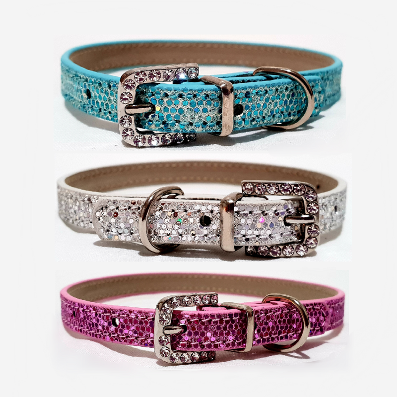 Rhinestone Buckle Collar