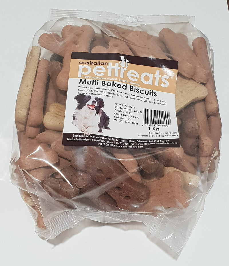 Baked Bone Biscuits - Multi Flavoured - 1kg Bag