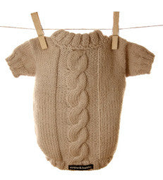 Miyow & Barkley Barkingham Knit Cardigan in Cream - Smitten Pets - 1