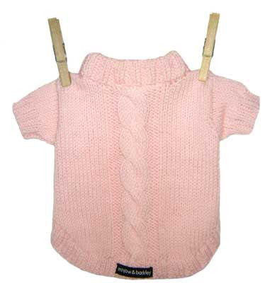 Miyow & Barkley Barkingham Knit Cardigan in Pink - Smitten Pets