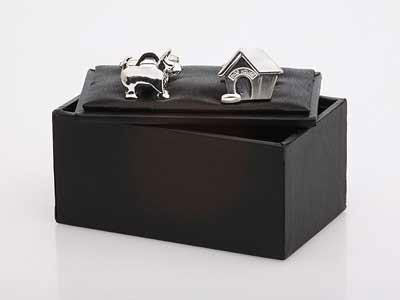 Dog and Kennel Cufflinks - Smitten Pets
