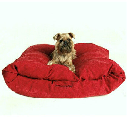 Miyow & Barkley Microsuede Snuggle Pod (in Chocolate or Red) - Smitten Pets - 1