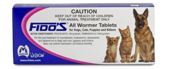 Fido's All wormer Tablet