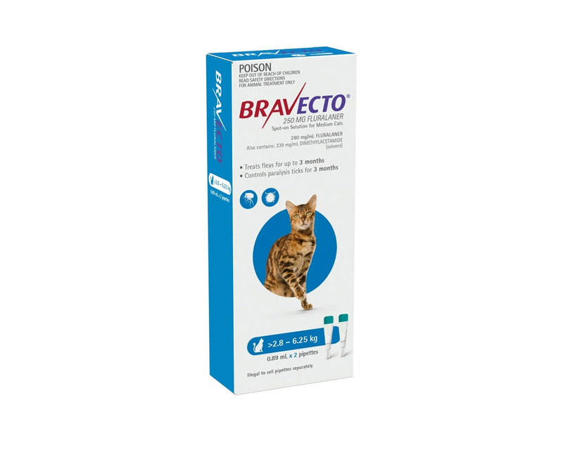 Bravecto Spot-On Medium Cat 2.8-6.25KG / 2 pack
