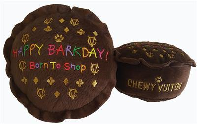 Chewy Vuiton Barkday Cake Dog Toy