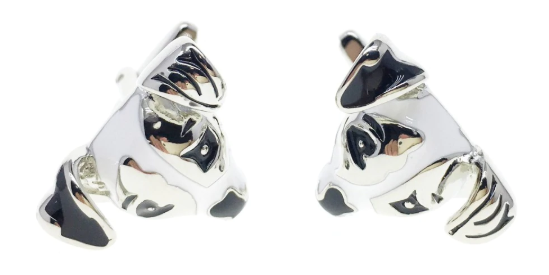 Jack Russell Dog face Cufflinks