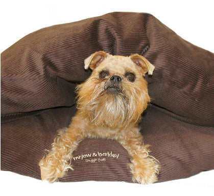 Miyow & Barkley Cord Snuggle Pod in Mudcake Chocolate