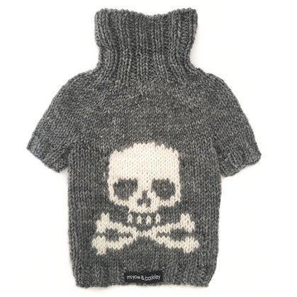 Miyow & Barkley CAPTAIN JACK – Silver Skull Knit Sweater
