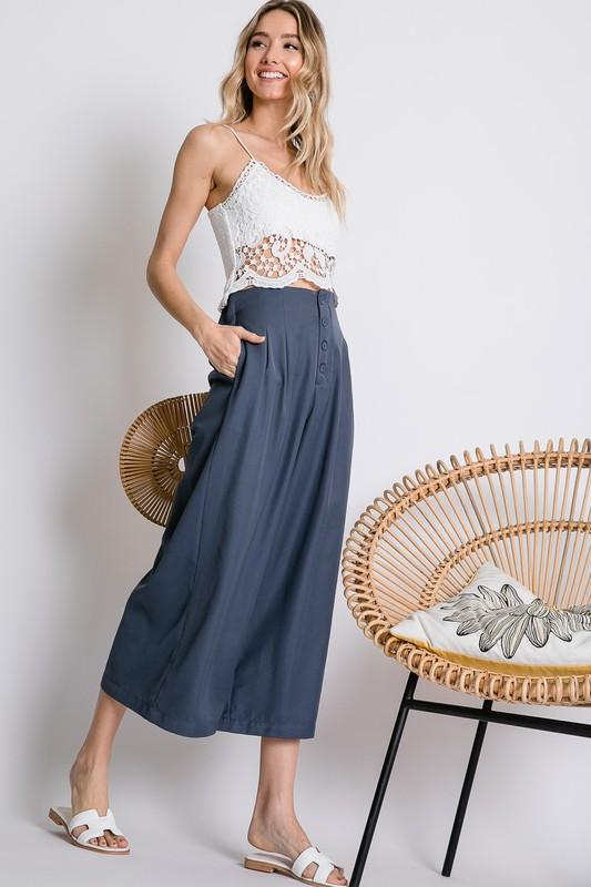 Willow Blue Palazzo Pants