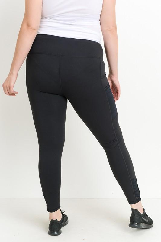 Origami Black Leggings