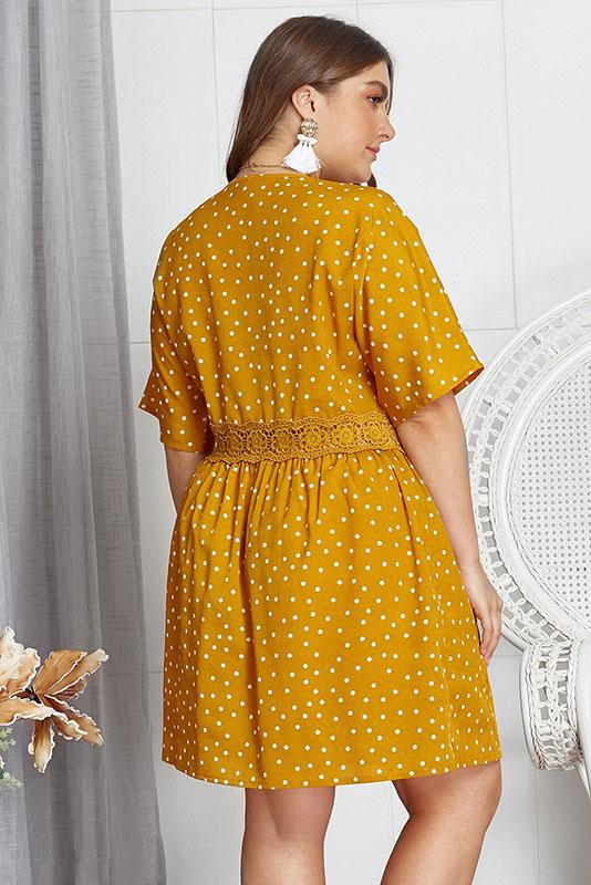 Polka Dot Mustard Dress