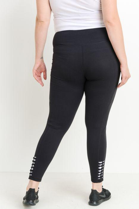 Natia Black Leggings