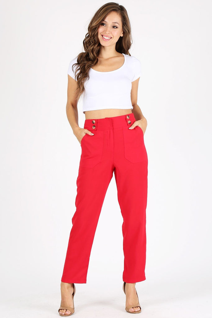 Nerika Red Pants