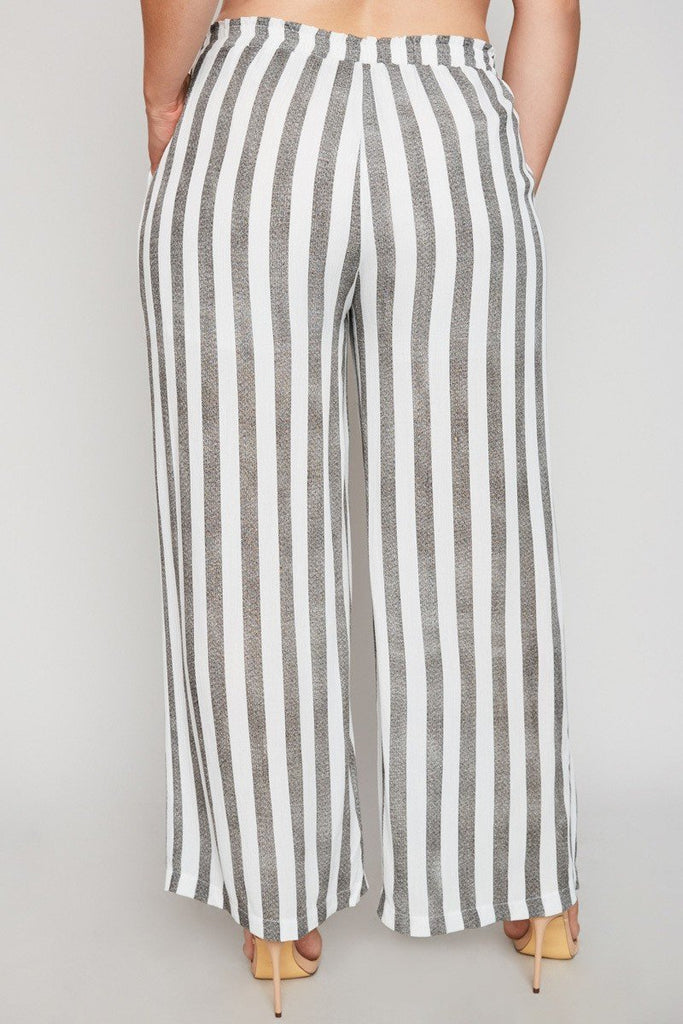 Peyton Striped Gray Pants