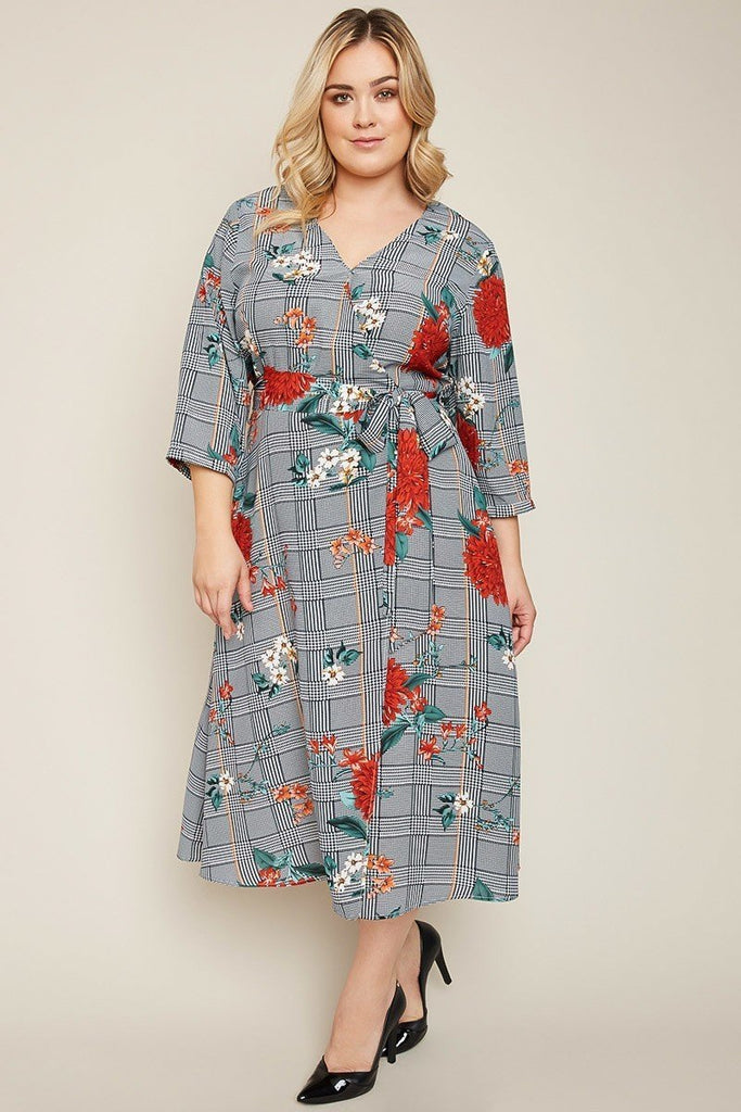 Plus wrap dress