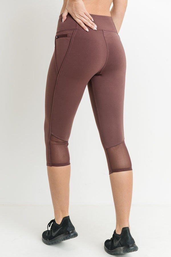 Kizzie Mauve Zipper Leggings