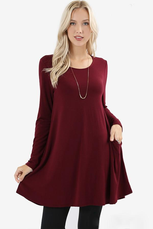 Voala Burgundy Long-Sleeve Shirt