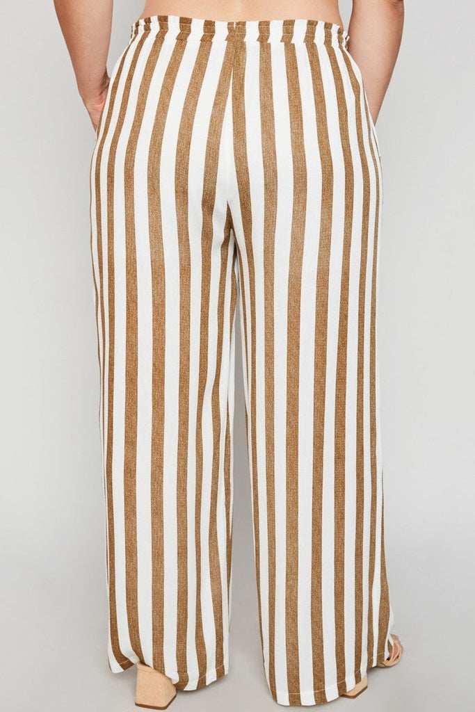 Peyton Striped Coffee Pants