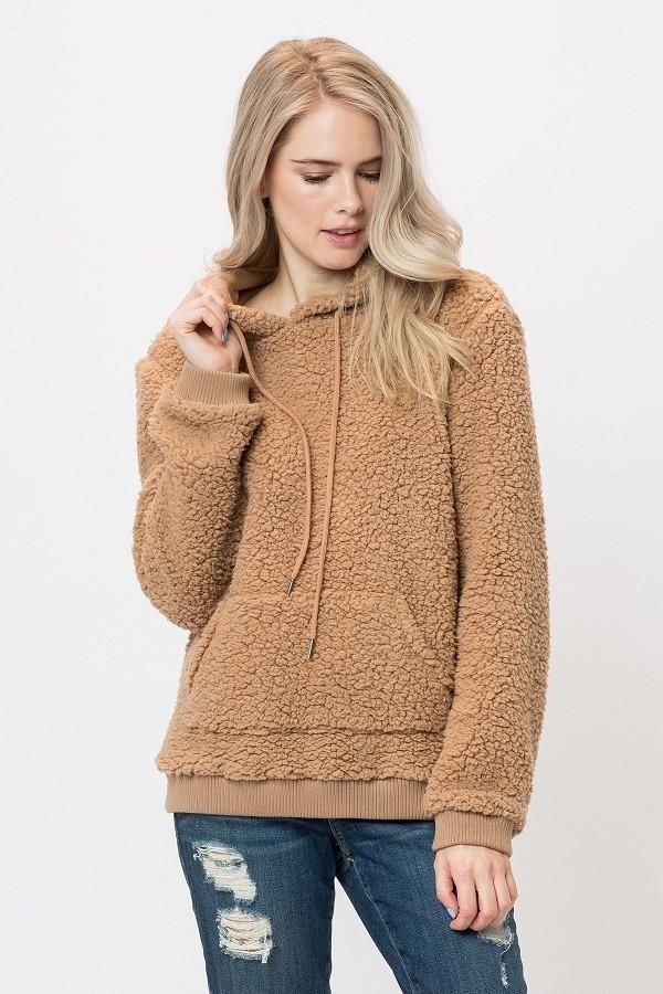 Violet Teddy Bear Sweater